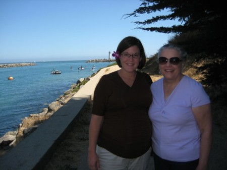 Rachel and Mary Beth at Santa Cruz Harbor