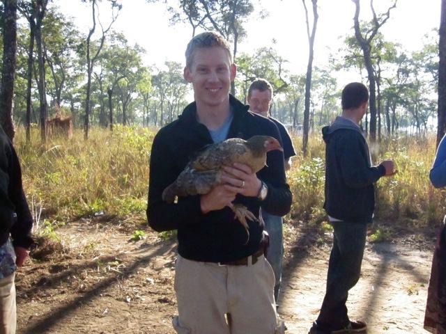 Matt with Chicken