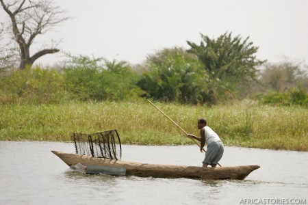 Fishing in Shire River