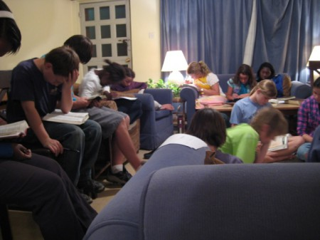 Youth Group Studying