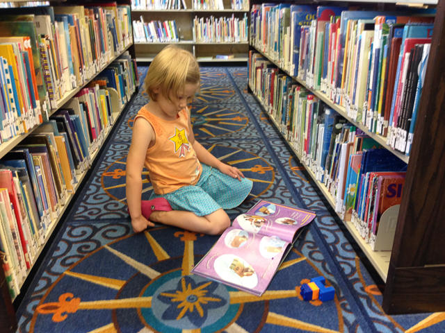 Abigail loves libraries