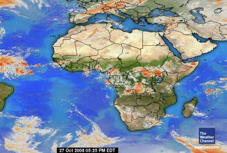 Map of Africa Weather