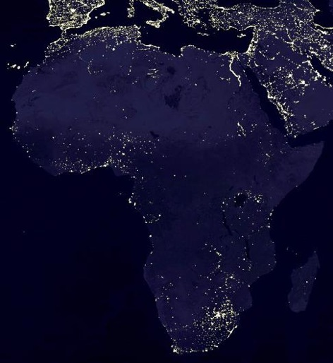 Map of Africa Lights