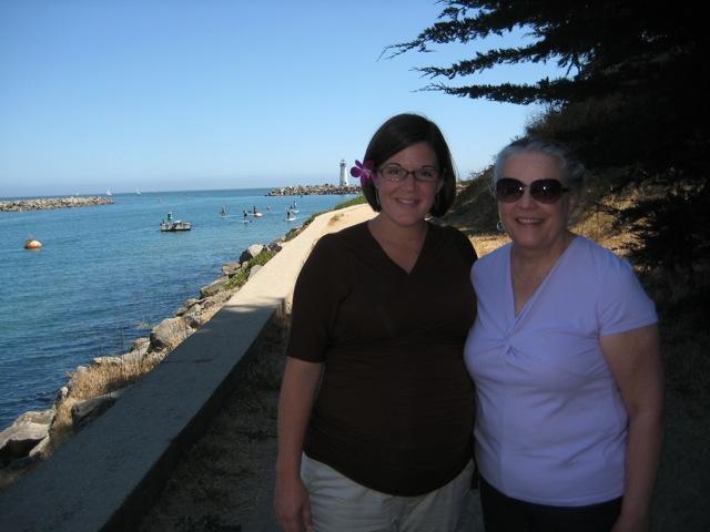 Rachel and Mary Beth at Santa Cruz Harbor